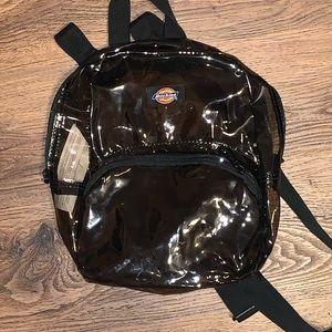 dickies black transparent bag backpack mini